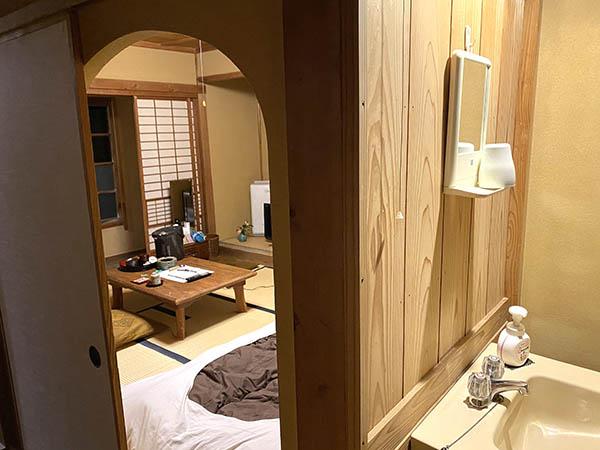 金谷旅館で泊まった部屋