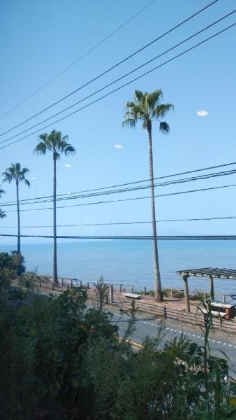走る列車の車窓から撮った写真