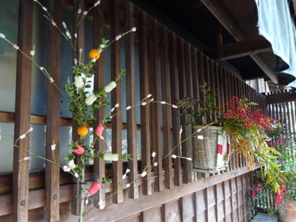繭玉と餅花飾り