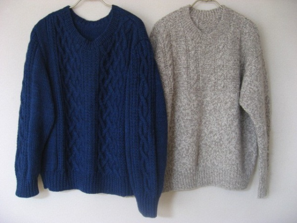夫用のセーター