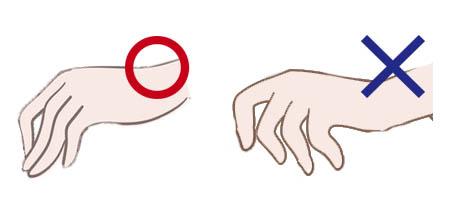 シャンプーをするときの手