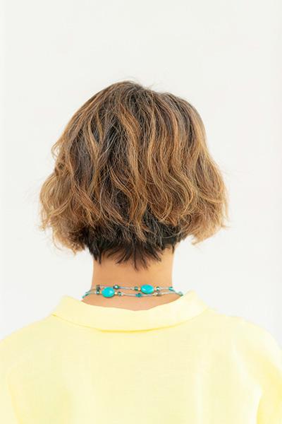 染めて移行するグレイヘア