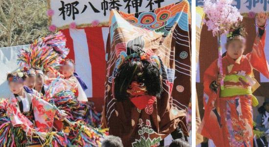 演目「綾(左)」と「桜の舞(右)」。
