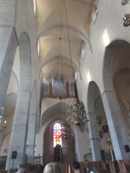 エストニア・タリンの大聖堂で行われたパイプオルガンコンサート