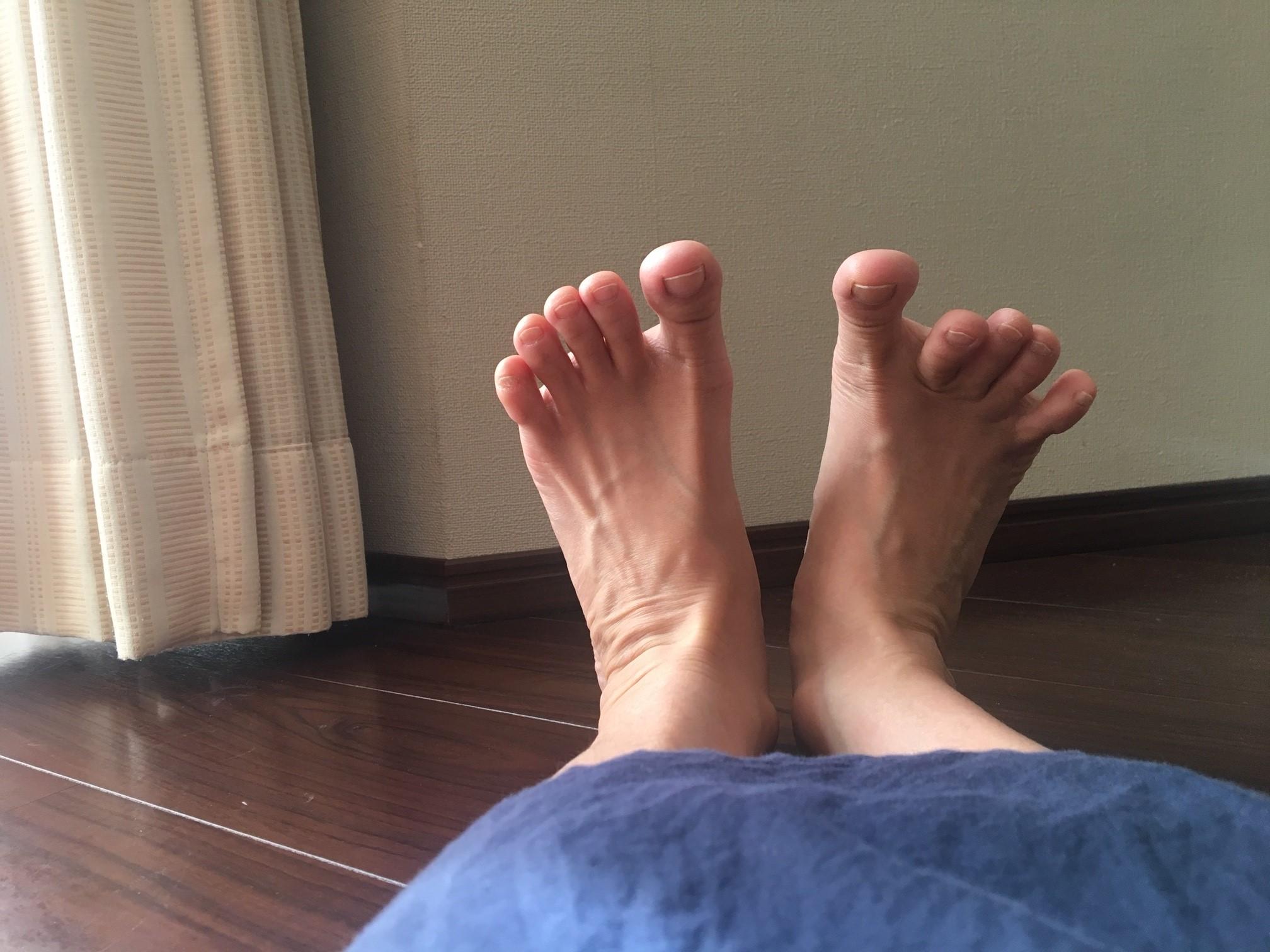 両足の動きを見る