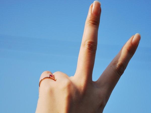 【回答C】小指用の指輪