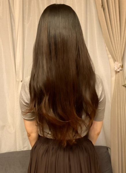 31cm以上伸びた髪