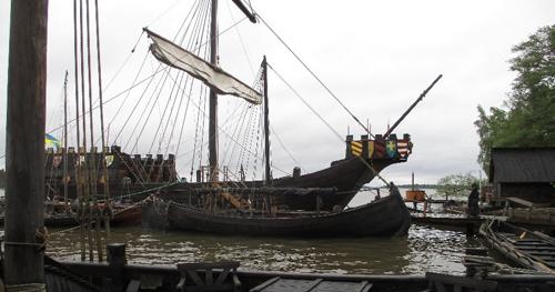 ヴァイキング船に乗船しました
