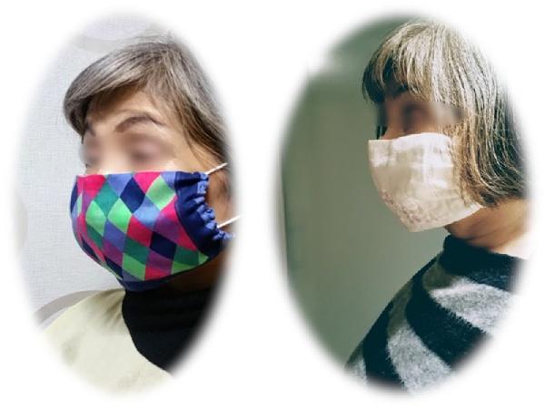 ハルメクWEBの記事を参考に使い捨てマスク用カバー作りに初挑戦。
