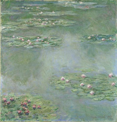クロード・モネ《睡蓮》1907年 油彩/カンヴァス ポーラ美術館蔵