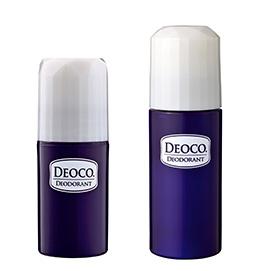 ニオイ菌の殺菌とともに、年齢により減少する若い頃の甘い補う香りをプラスして加齢臭までケア。しっかり密着するスティックタイプ、さらっと軽い付け心地のロールオンタイプがラインナップ。(左)デオコ 薬用デオドラントスティック、(右)同 ロールオン オープン価格/ロート製薬