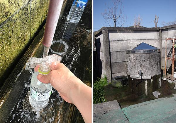 水を汲んでいるところ)(13-2写真・街中に見かける井戸の形はいろいろ