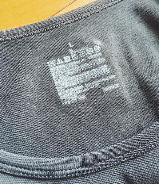 オーガニックコットンストレッチクルーネック長袖Tシャツ
