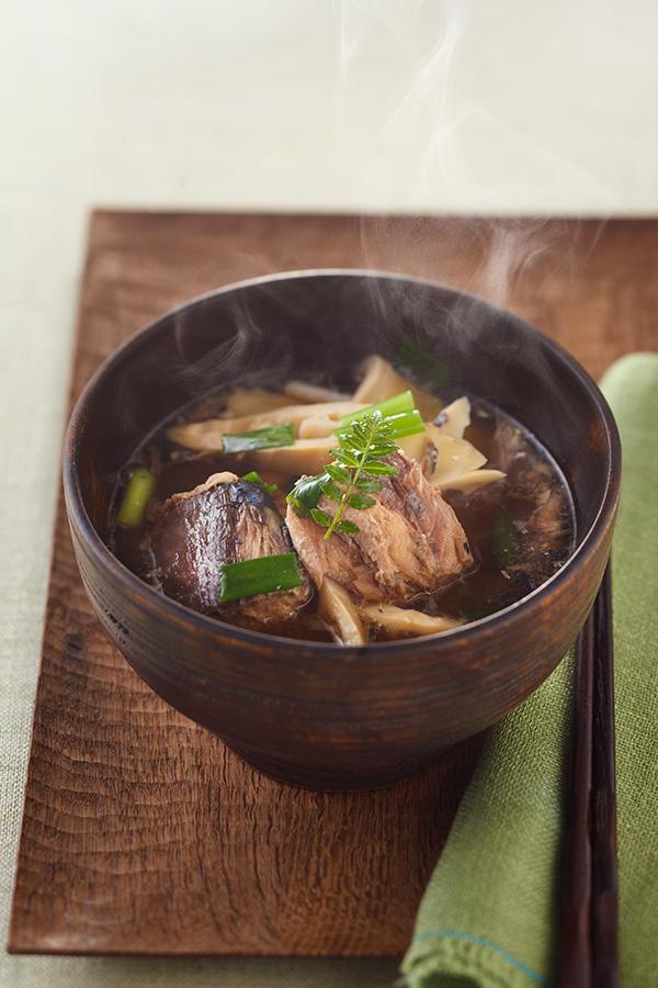 レシピ名:サバ缶の筍汁
