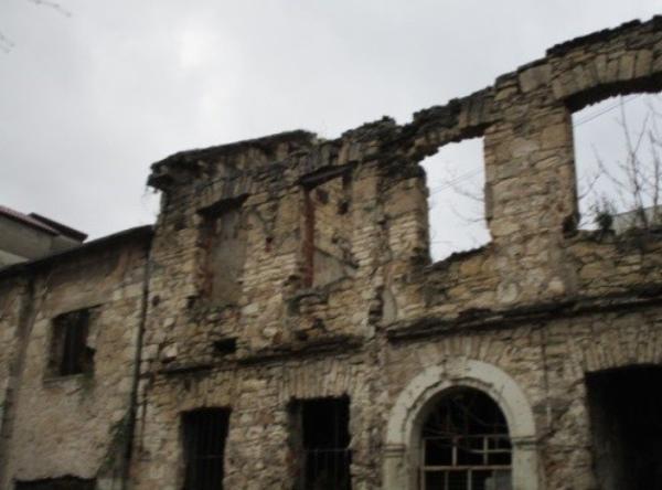 建て替えるのをあきらめて放置されたままの家屋もある