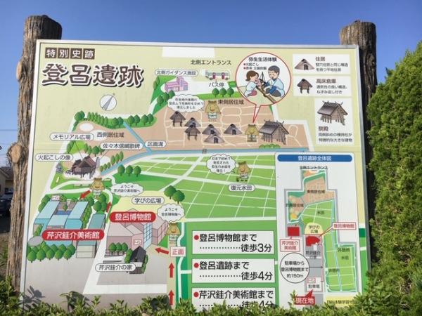 「登呂遺跡」の標識