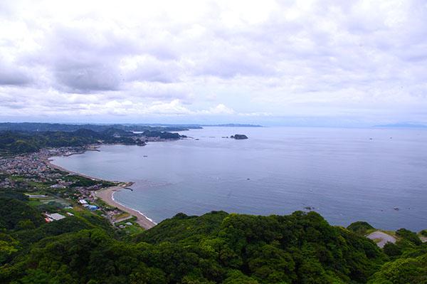 海抜329mの展望台からの眺め