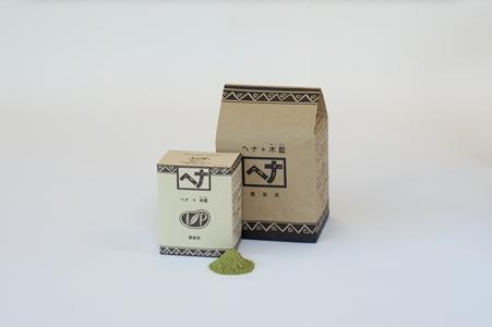 ヘナ+木藍100g 1620円、400g 4860円(ともに税込/ナイアード 042-552-8960)