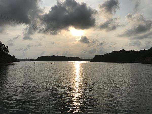 英虞湾からみる夕日