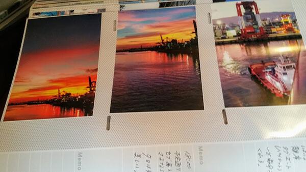 セブ島出港時の見事な夕焼け