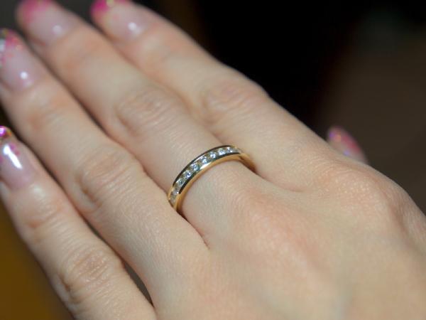 【回答B】中指用の指輪