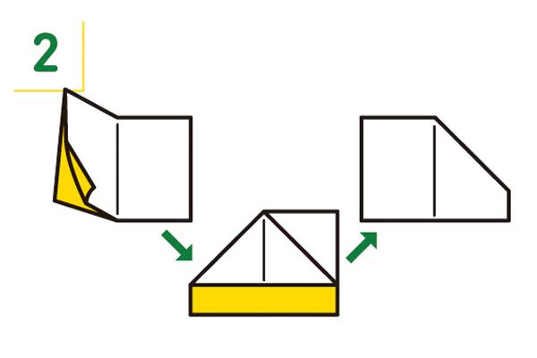 紙皿の折り方2