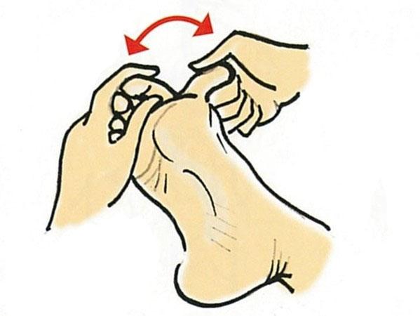 【きくち体操・基本のやり方1】足の裏と指に触る3