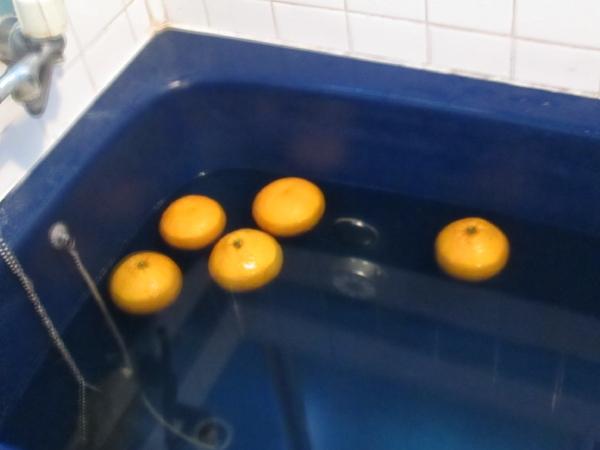 一日の疲れを癒す豊かな夏みかん風呂。