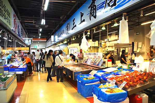 三陸鉄道リアス線の開業に合わせ今年3月にリニューアルされたばかりの宮古市魚菜市場