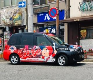 広島カープのイラストが描かれた車