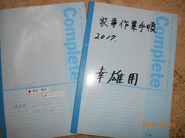 まず、私はこのクルーズの諸々のメモ、忘備録として1冊のノートを用意しました