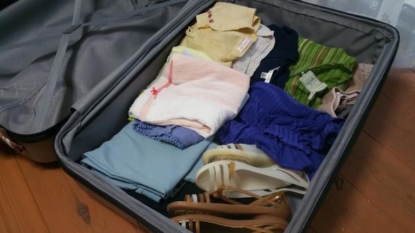 衣替えをかねて衣類の準備も始めた