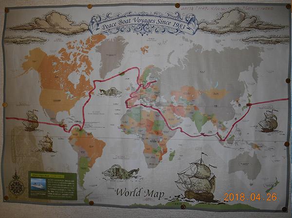 クルーズの地図
