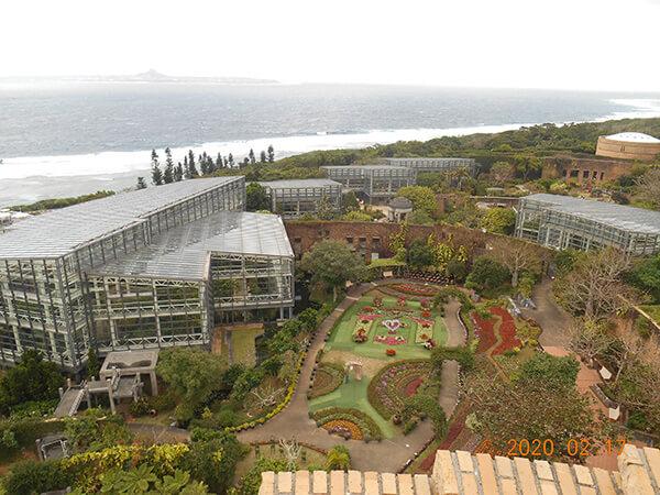 遠見台から見た熱帯ドリームセンター