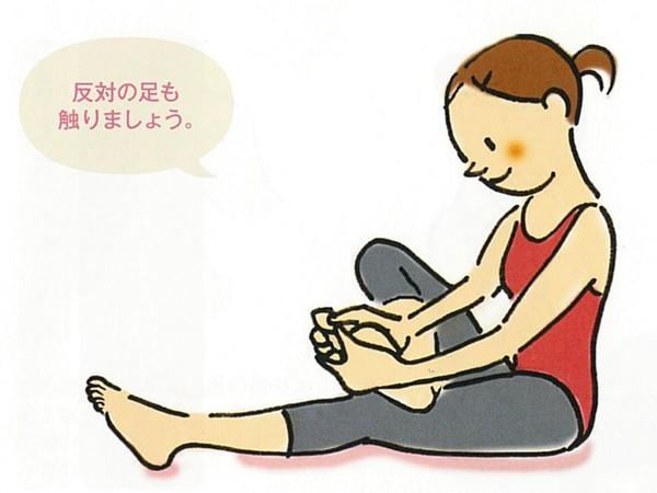 【きくち体操・基本のやり方1】足の裏と指に触る1