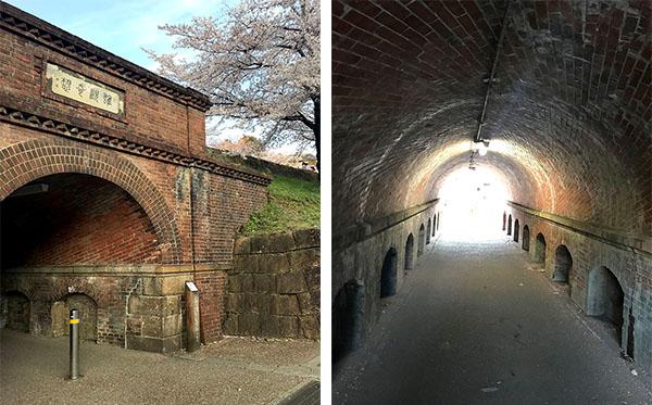 「ねじりまんぽ」と呼ばれる蹴上トンネル)(17-2写真・トンネル内は構造がよくわかる