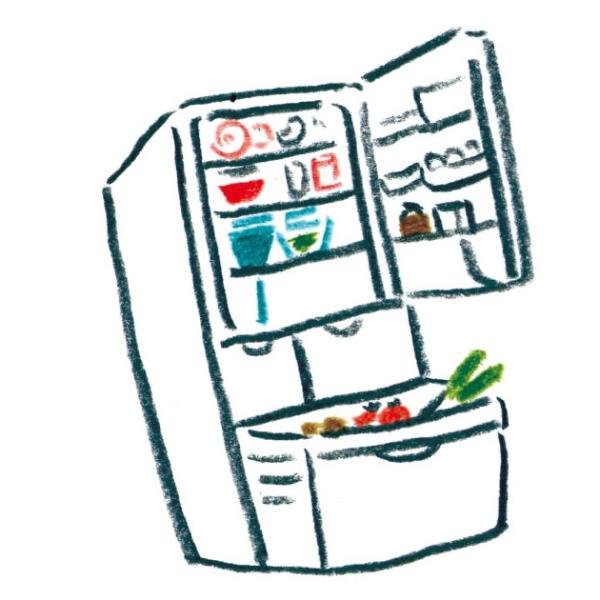 冷蔵室はゆったり、冷凍室はぎっしり