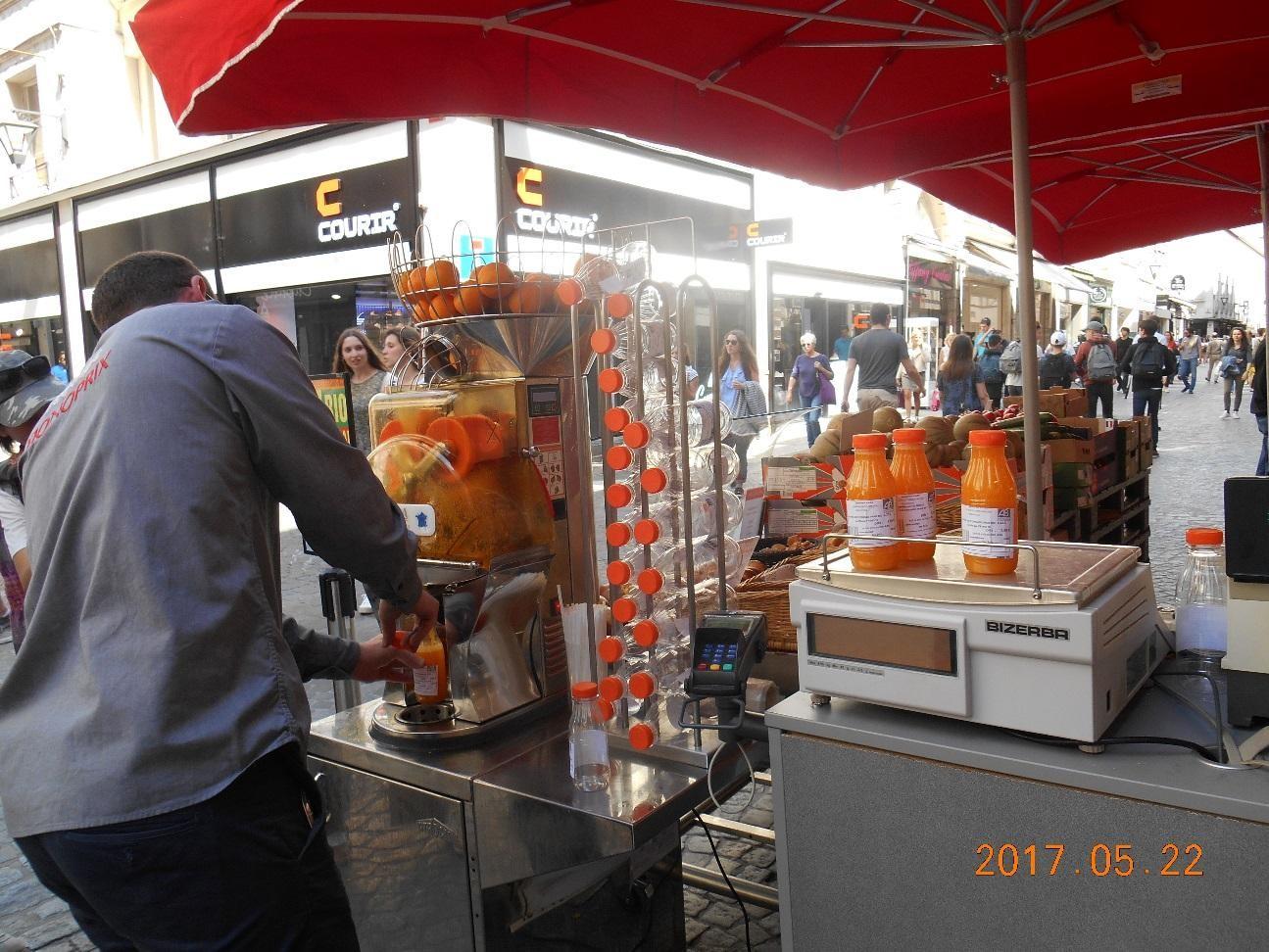 しぼりたてのオレンジジュース