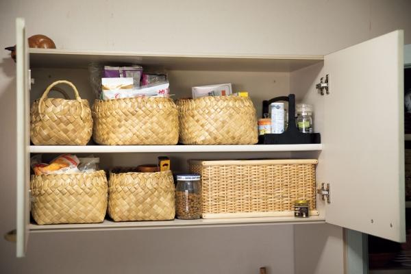食材の置き場は小さく