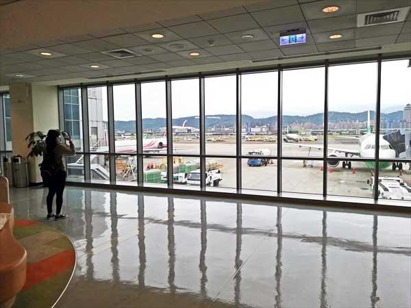 松山空港から見る台北市内