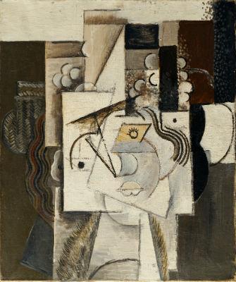 パブロ・ピカソ《葡萄の帽子の女》1913年 油彩/カンヴァス ポーラ美術館蔵 ©2019-Succession Pablo Picasso-BCF(JAPAN)