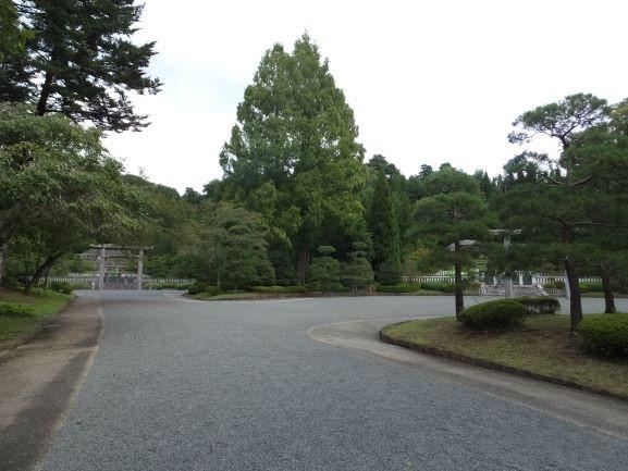 天皇陵の道