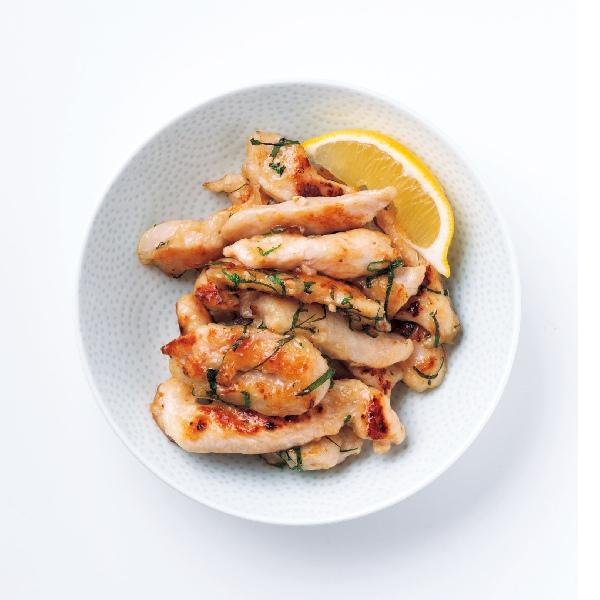 鶏ムネ肉と大葉の塩焼き