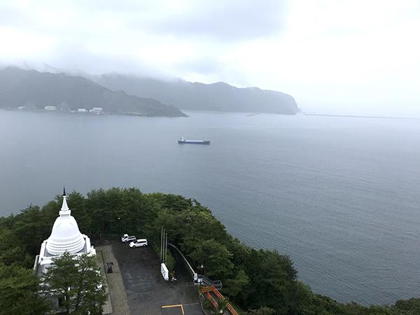 海抜120mの展望台から見た景色