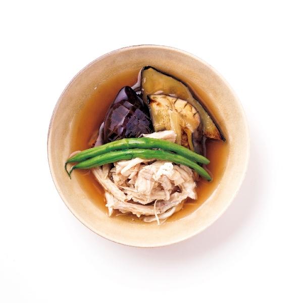 鶏ムネ肉と焼きナスのショウガあん