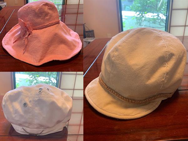 雨の日に重宝する帽子