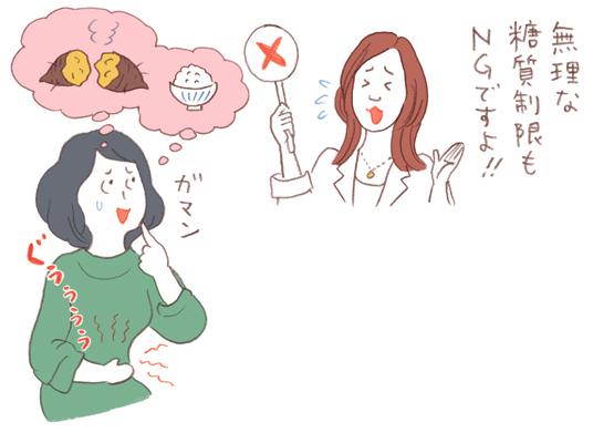 糖分、脂っこいものは頭皮に大敵イラストレーション川口澄子