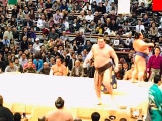 大相撲取り組み後