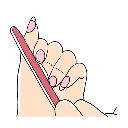 ファイルで爪の角を整える