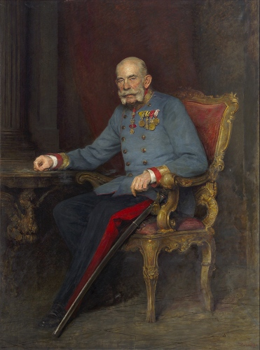ヴィクトール・シュタウファー《オーストリア・ハンガリー二重帝国皇帝フランツ・ヨーゼフ1世の肖像》
